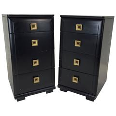 Pair of Nightstands in the style of Raymond Loewy for Mengel with Great Storage