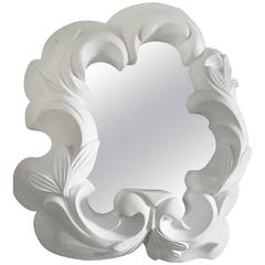 1940s French Plaster Mirror in the Style of Serge Roche
