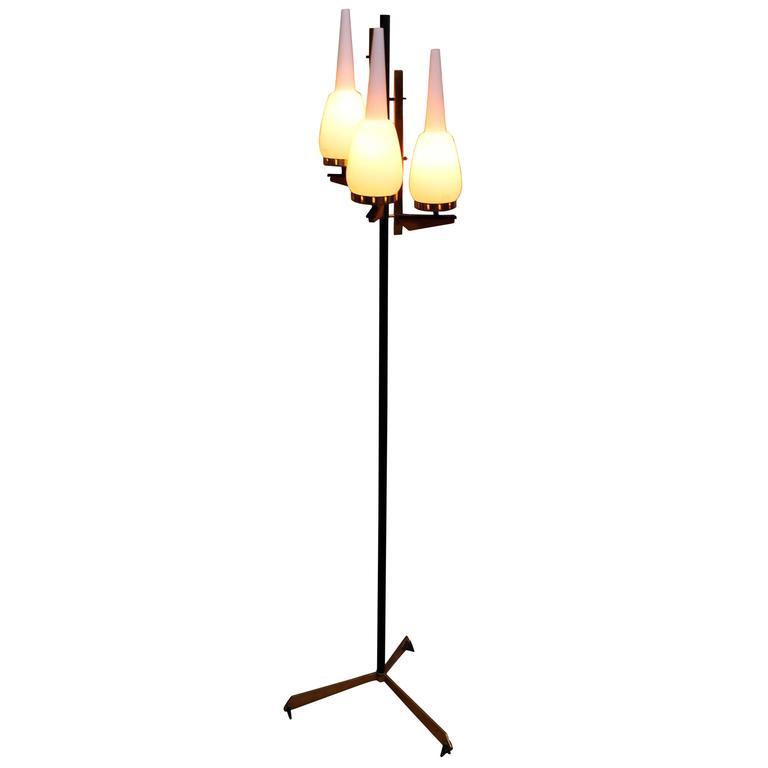 Floor Lamp in Style of Stilnovo For Sale