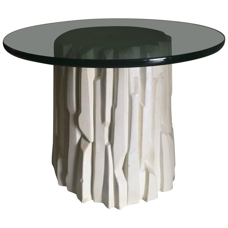 Tree Trunk Form Occasional Or Side Table In The Manner Of