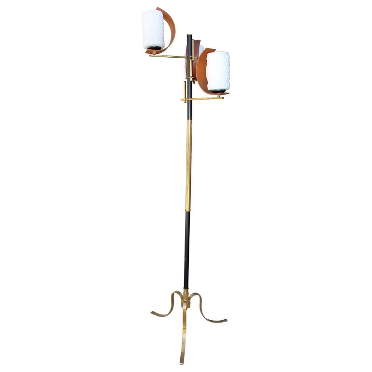 1950s Italian Floor Lamp in Style of Stilnovo For Sale