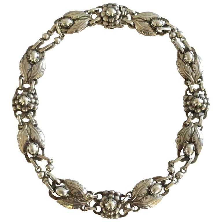 georg jensen sterling silver necklace 15 with silver. Black Bedroom Furniture Sets. Home Design Ideas