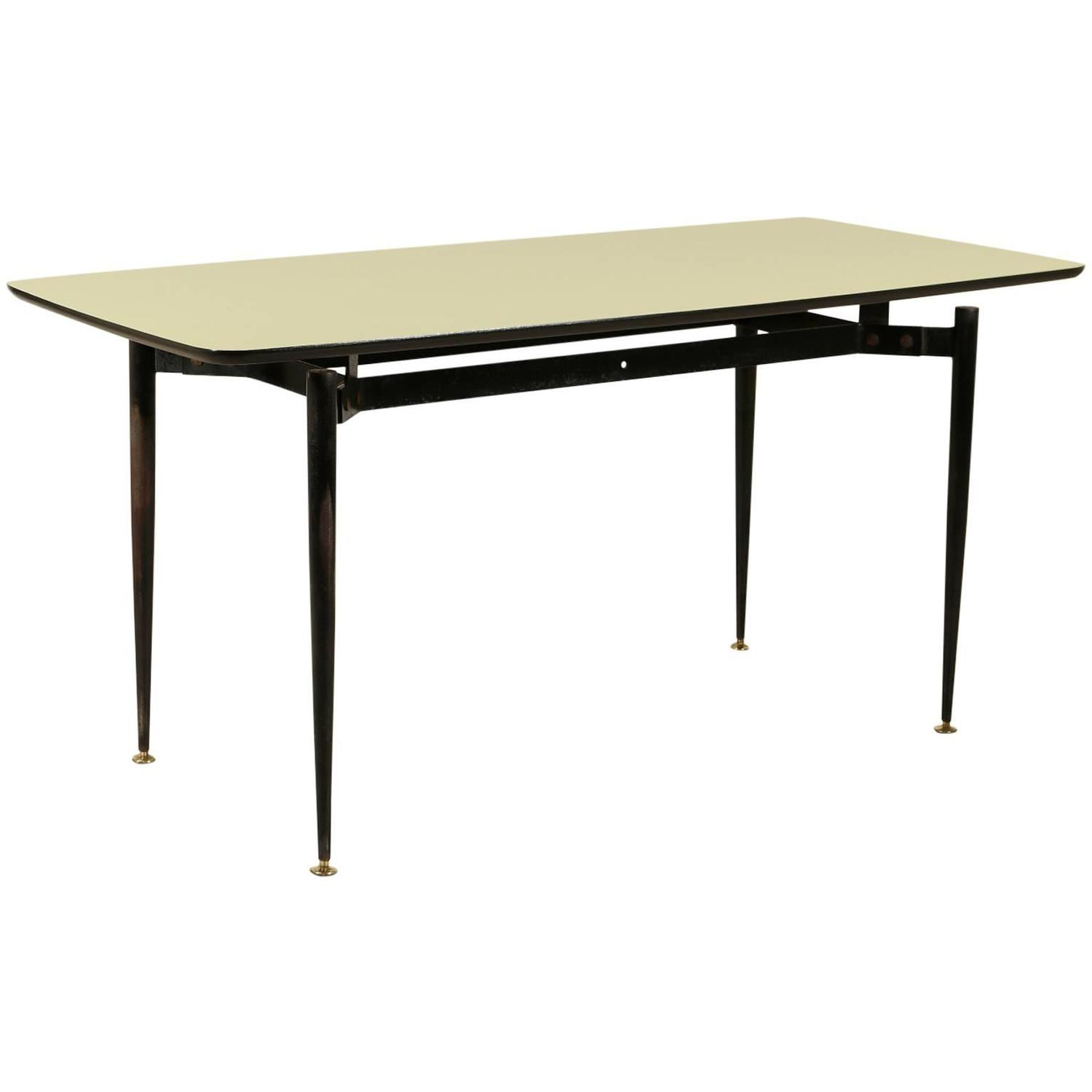 Metal Covered Tables : S metal and wooden table covered with formica at stdibs