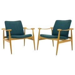 Pair of Finn Juhl Spade Lounge Chairs FD 133, Denmark, 1954, France & Sons