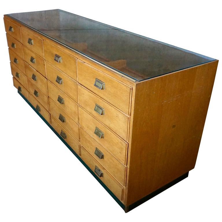 Vintage German Haberdashery Cabinet, 1950s at 1stdibs