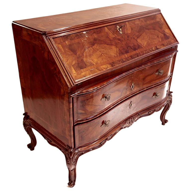 18th century bureau inlaid for sale at 1stdibs. Black Bedroom Furniture Sets. Home Design Ideas