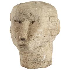 Carved Stone Head from Timor