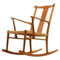 Axel O Larsen 1940s Rocking Chair for Fritz Hansen
