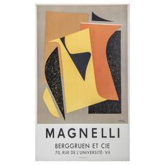Alberto Magnelli Cubist Exhibition Poster