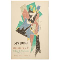 Cubist Exhibition Poster by Gino Severini