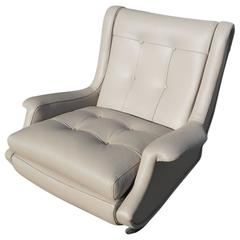Marco Zanuso 'Regent' Lounge Chair, Arflex, Fully Restored Luxe Italian Leather