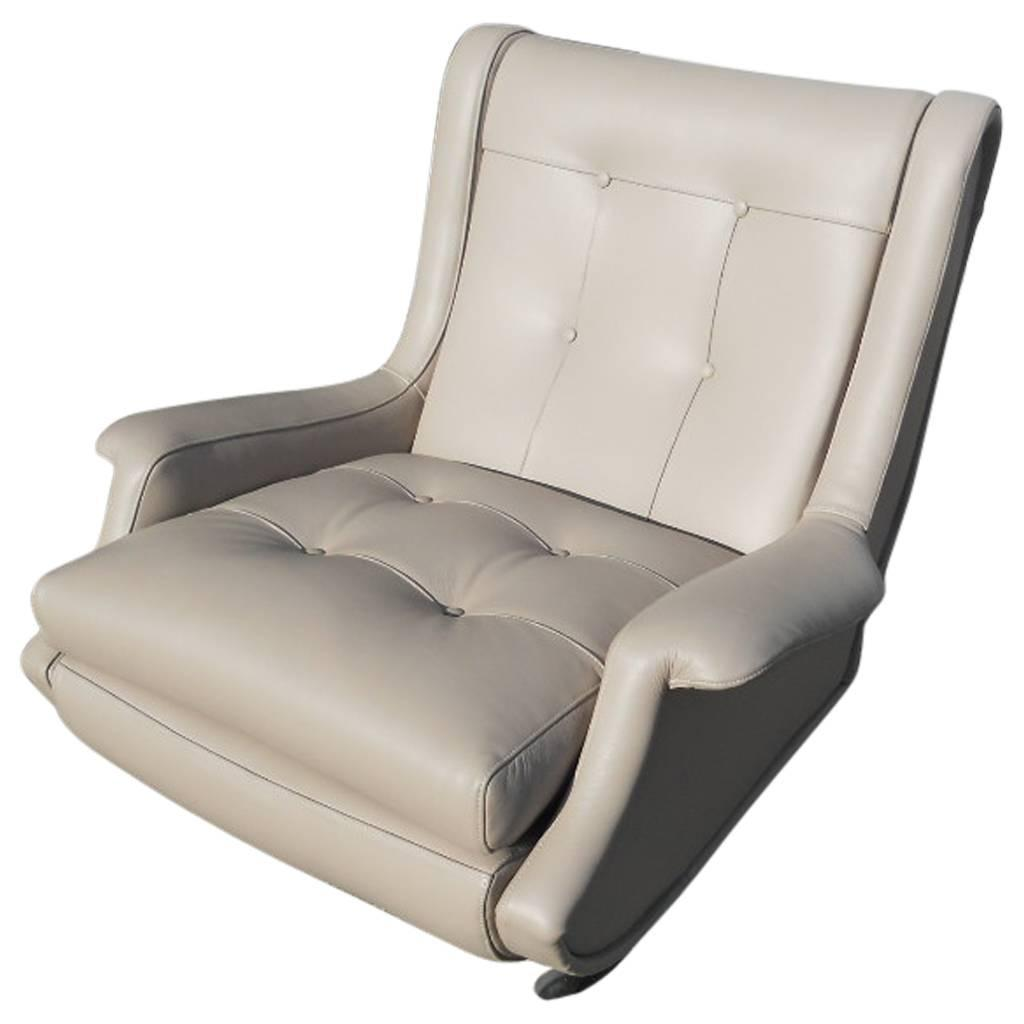 Marco Zanuso U0027Regentu0027 Lounge Chair, Arflex, Fully Restored Luxe Italian  Leather