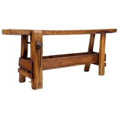 French 19th Century Wooden Carpenter's Workbench