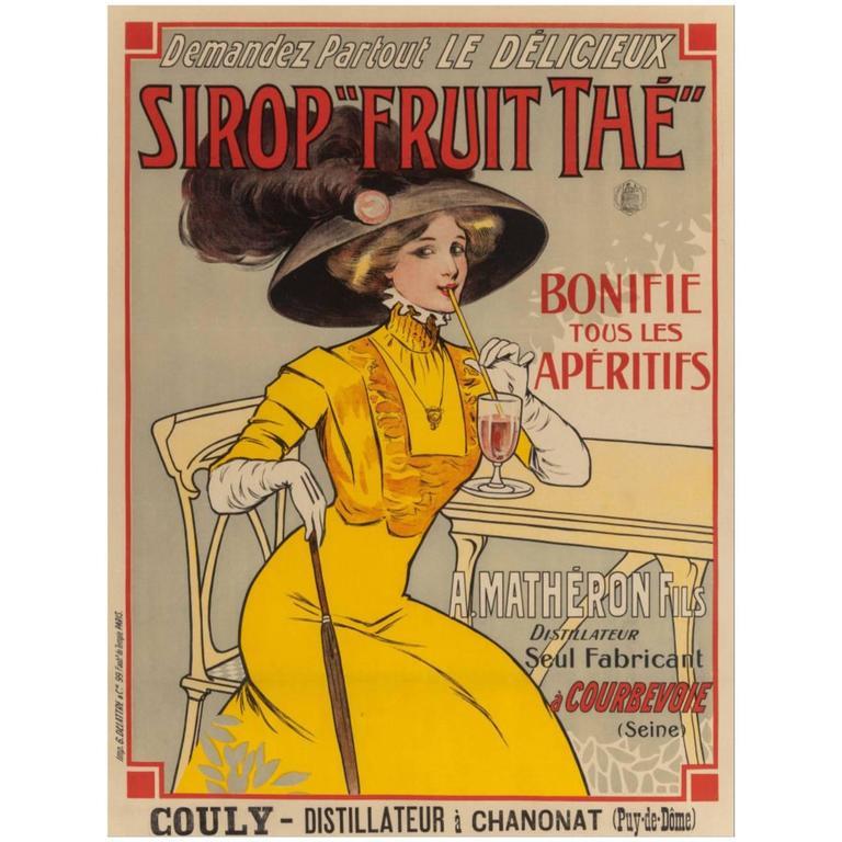Art Nouveau French Poster, circa 1898