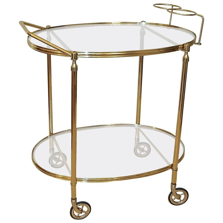 italian hand crafted brass bar cart for sale at 1stdibs. Black Bedroom Furniture Sets. Home Design Ideas