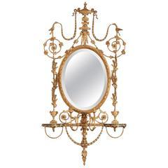 George III Style Giltwood Girandole Mirror