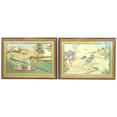 Pair of 19th Century Chinese Drawings