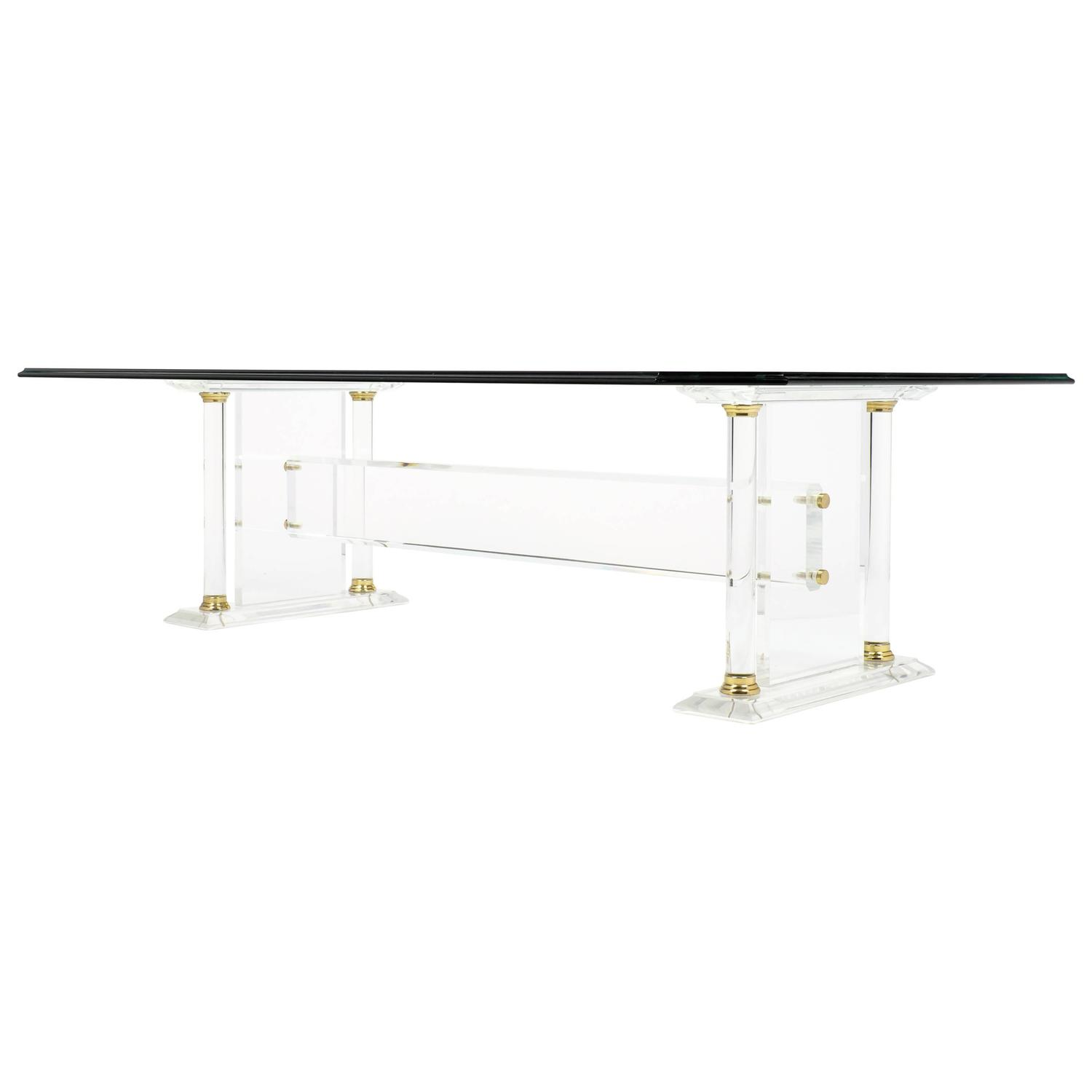 Lucite Coffee and Cocktail Tables 391 For Sale at 1stdibs