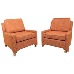 Pair of Slipper Chairs with Stylized Leg Detail