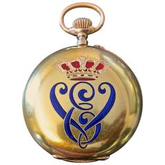 18-Karat Gold Pocket Watch Made by Order of King Victor Emmanuel