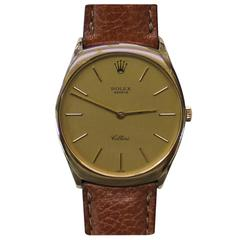 Rolex Cellini 18-Karat Gold Men's Watch