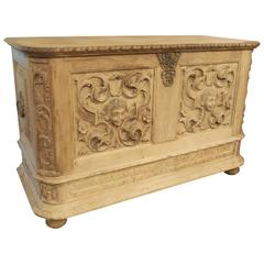 Well-Carved Stripped Trunk from Italy