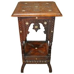 19th Century Moorish Side Table or Stand, Middle Eastern