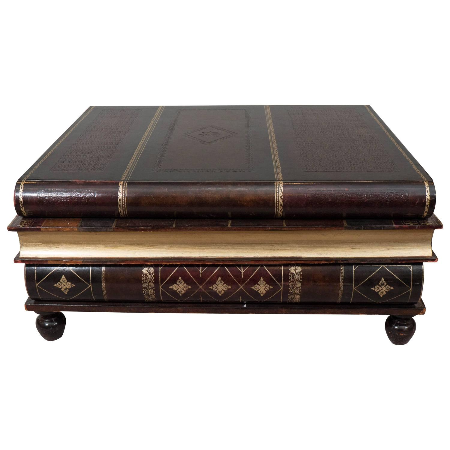 maitland smith stacked books coffee table at 1stdibs. Black Bedroom Furniture Sets. Home Design Ideas