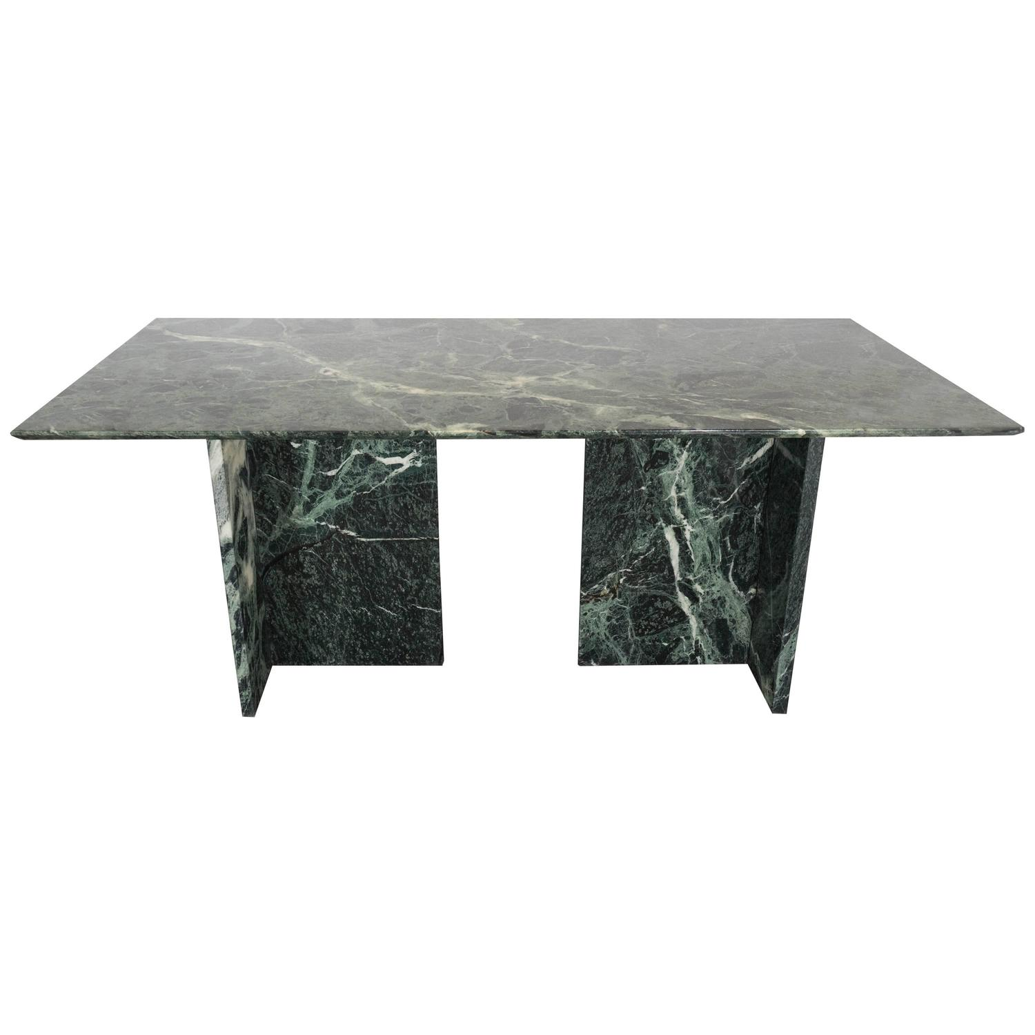 Italian Green Marble Dining and Conference Table at 1stdibs