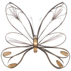 Curtis Jere Butterfly Wall Sculpture, Signed and Dated 1978