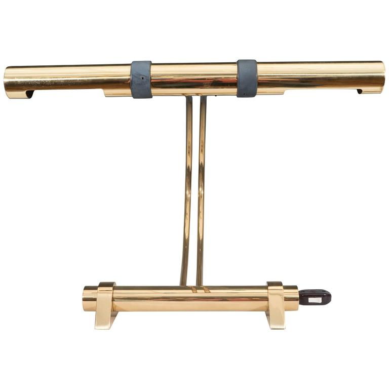 Casella Lighting Tubular Desk Lamp in Brass