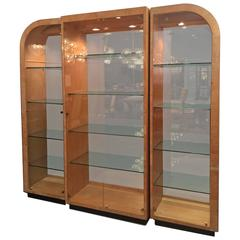 Gorgeous Burl Wood Display Cabinet by Henredon, Designed by Milo Baughman