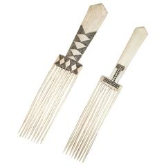 Late 19th Century Pair of Tribal Zulu Combs