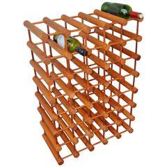 Huge 42 Bottle Teak Wine Rack by Nissen