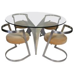 Rare 1970s Dining Room by Paul Legeard Dom Edition