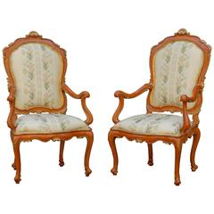 Pair of 18th Century Venetian Armchairs