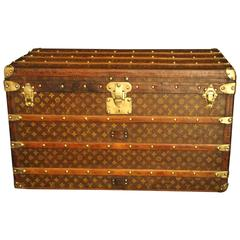 1920s Louis Vuitton Courrier Steamer Trunk