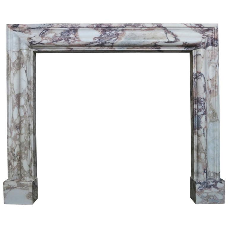 Antique william iv breche violette marble fireplace mantel for Marble mantels for sale