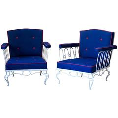 Pair of Art Deco Armchairs, France, 1940s