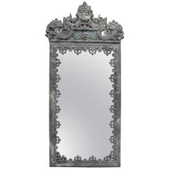 Zinc-Framed Mirror