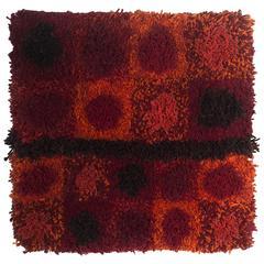 Jane Knight Sculptural Wool Red Fiber Art
