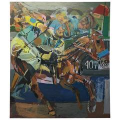 Victor Espinoza and American Pharaoh Oil Painting by Nyc Artist Clintel Steed