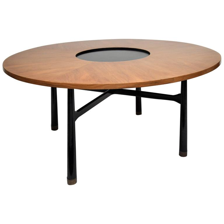 Harvey Probber Walnut Game Or Cocktail Table For Sale At 1stdibs
