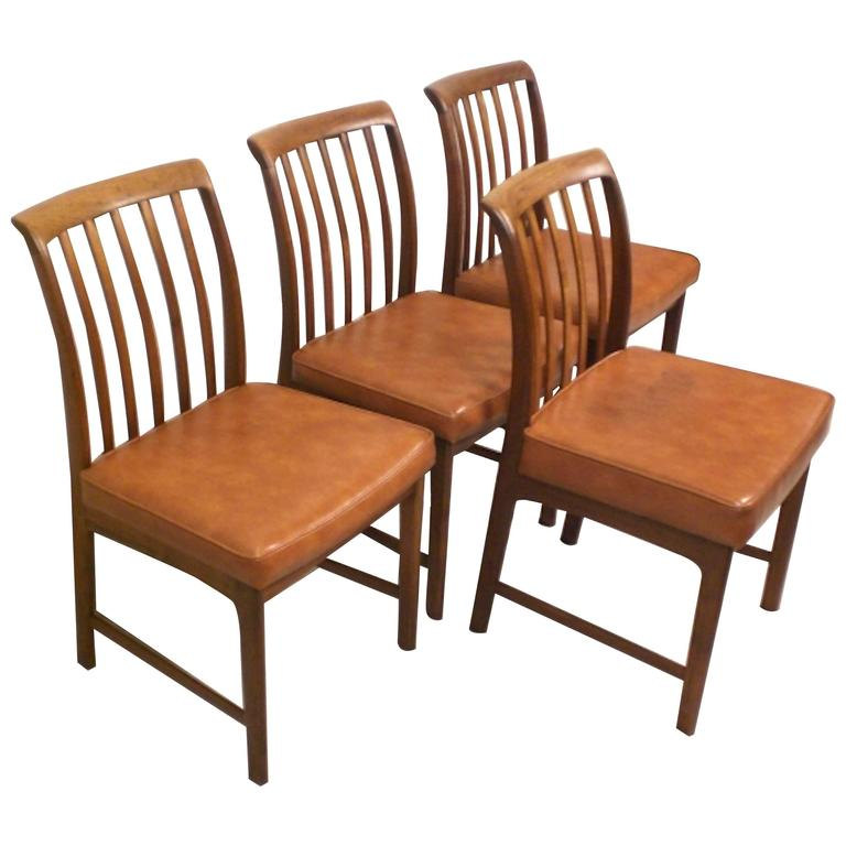 Set of Four Danish Modern Chairs by DUX