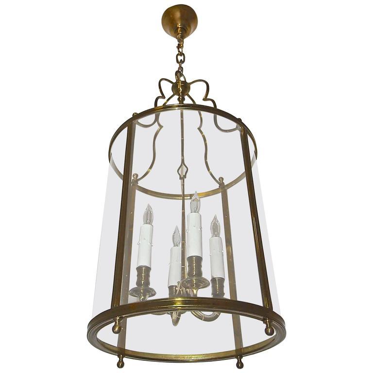 Maison Baguès French Bronze Ceiling Lantern Light For