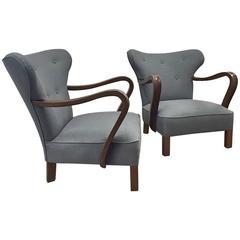 Pair of Vintage Scandinavian Chairs