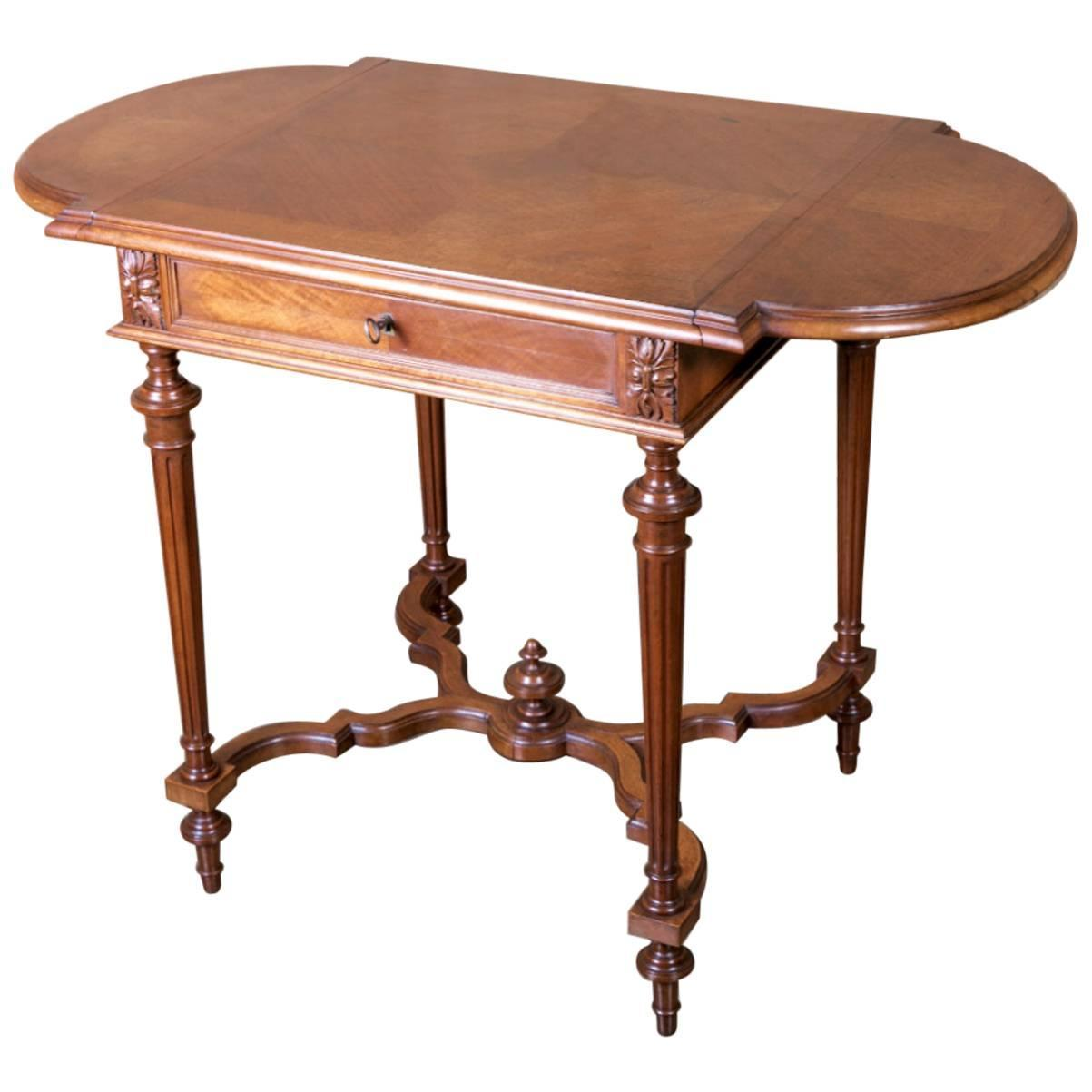 louis xvi style drop leaf side table at 1stdibs. Black Bedroom Furniture Sets. Home Design Ideas