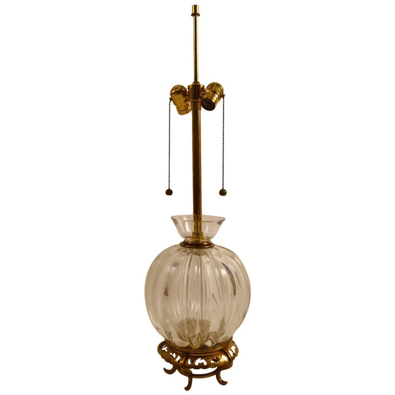 Murano Lamp by Marbro For Sale