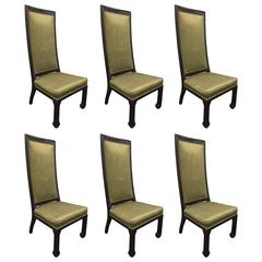 Six Asian Style Dining Chairs