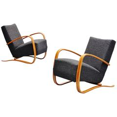 Jindrich Halabala Art Deco Lounge Chairs, Czech Republic, 1930
